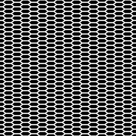 Seamless cage horizontal. Honeycomb. Grill. Mesh. Modern stylish texture. Pattern with linear hexagons. Vector Background.