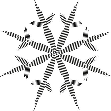 Linear vector snowflake. Winter symbol. Holiday design Illusztráció