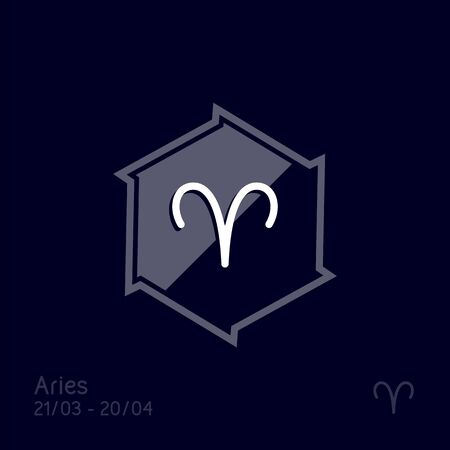 Aries zodiac sign. Astrology symbol vector illustration 向量圖像