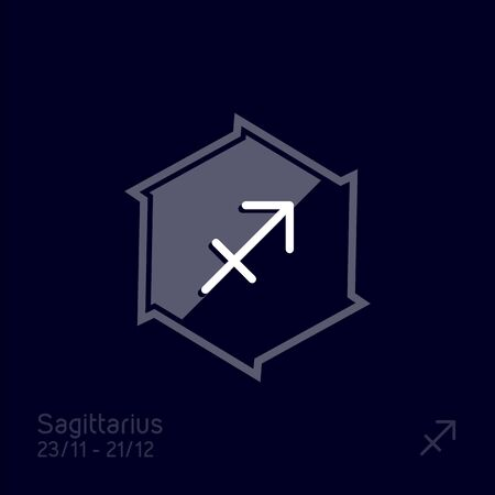 Sagittarius zodiac sign. Astrology symbol vector illustration