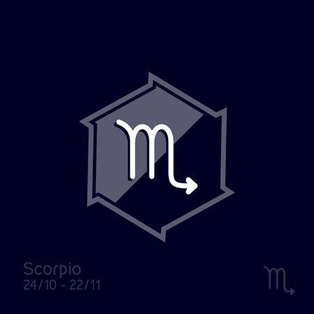 Scorpio zodiac sign. Astrology symbol vector illustration
