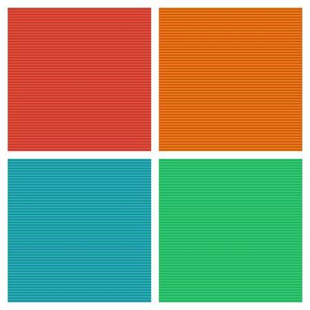 Set of colored seamless geometric striped patterns