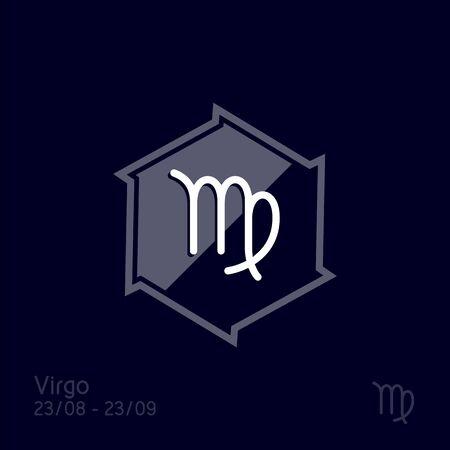 Virgo zodiac sign. Astrology symbol vector illustration