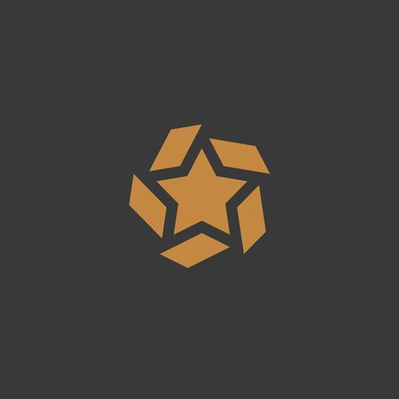 Element of star for mobile concept and web apps. Icon for website design and development, app development. Simple pictogram icon. Vector illustration for your design.
