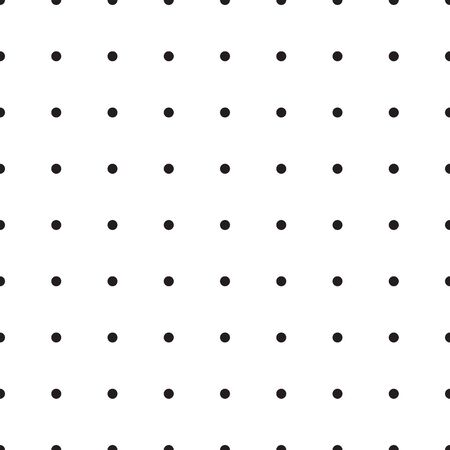 Seamless monochrome pattern with polka dots. Dotted background. Endless decorative linear round texture. Black and white decorative element. Simple geometric pointillist texture. 向量圖像