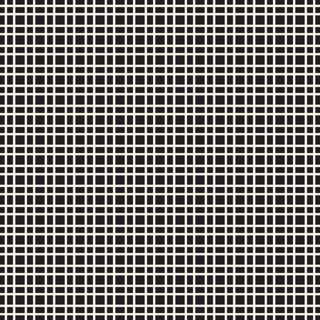 Grille de mosaïque abstraite, fond de maille avec des formes carrées. Répétable en toute transparence. Caillebotis, motif en treillis. Élément de design noir et blanc. Illustration vectorielle simple pour votre conception.