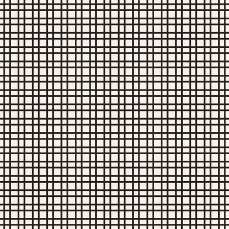 Abstract mosaic grid, mesh background with square shapes. Seamlessly repeatable. Grating, lattice pattern. Black and white design element.Simple vector illustration for your design.