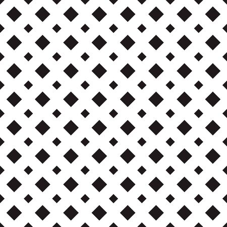 Tile pattern with black big and small rhombuses on white background. Vector seamless pattern. Repeating geometric tiles. Regular flat monochrome design for prints, decoration, web. 일러스트