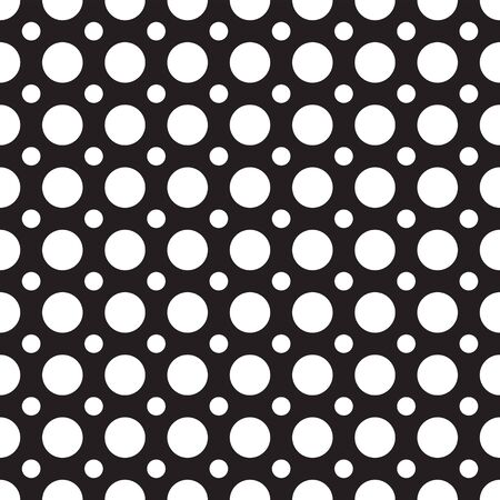 Seamlessly repeatable pattern with dots, circles. Big and small dots. Stylish design for prints, decoration, fabric, cloth, covers, linens. Dotted background. Black and white vector decorative element