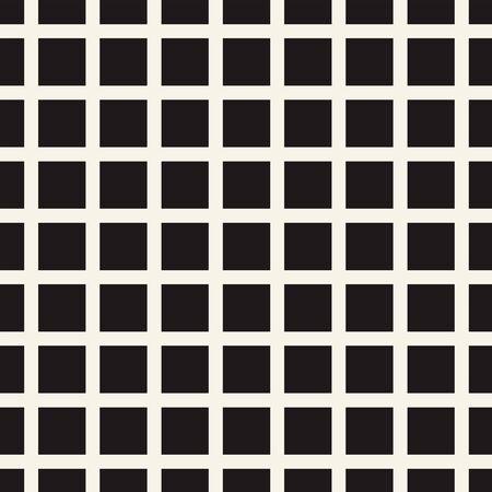 Grille de mosaïque abstraite, fond de maille avec des formes carrées. Répétable en toute transparence. Caillebotis, motif en treillis. Élément de design noir et blanc. Illustration vectorielle simple pour votre conception. Vecteurs
