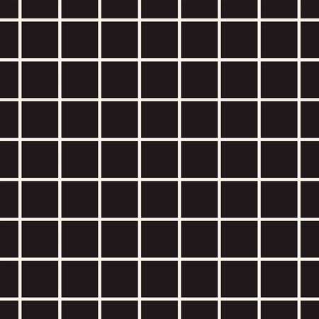 Abstract mosaic grid, mesh background with square shapes. Seamlessly repeatable. Grating, lattice pattern. Black and white design element.Simple vector illustration for your design. Vecteurs