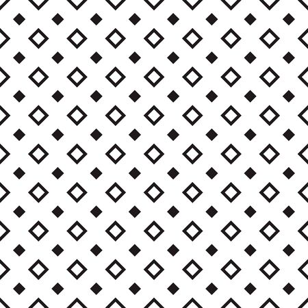 Tile pattern with black big and small rhombuses on white. Seamless pattern design for banner, poster, card, postcard, cover, business card. Monochrome geometric background. Vector illustration.
