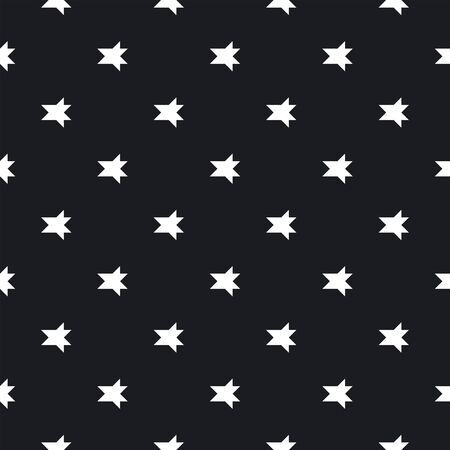 Abstract monochrome background with small angular figures, geometrical elements. Simple repeatable texture. Decorative print for wrapping paper, fabric, textile. Vector geometric seamless pattern. Illusztráció