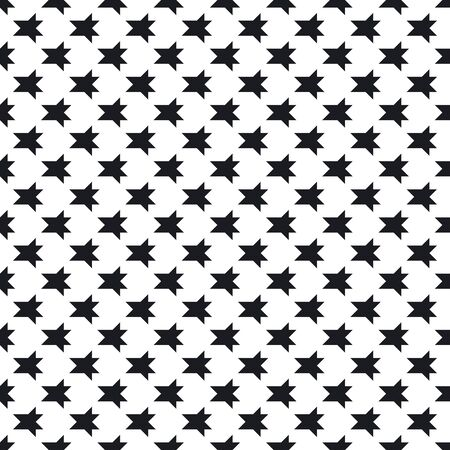 Abstract monochrome background with small angular figures, geometrical elements. Simple repeatable texture. Black and white design for prints, decor, packaging. Vector funky geometric seamless pattern