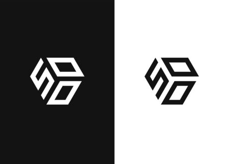 Combined number 500, vector element of the icon template. Set of numbers can be used as a city birthday or as a sports number for competitions. Creative geometric sign. Black and white version emblem.
