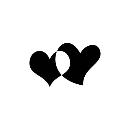 Unpainted romantic heart icon isolated on background. Love symbol. Happy valentines day and wedding design elements. Simple vector element illustration. Black and white version of the design. Standard-Bild - 139725179