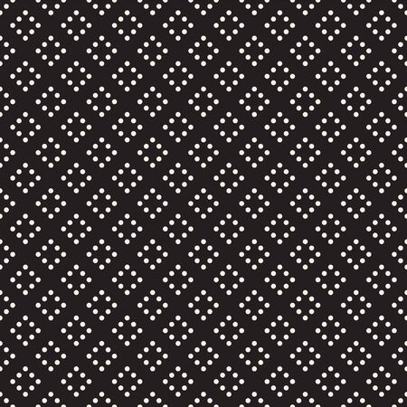 Vector seamless pattern. Modern stylish texture. Repeating geometric tiles with dotted rhombuses. Black and white decorative element.
