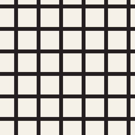 Abstract mosaic grid, mesh background with square shapes. Seamlessly repeatable. Grating, lattice pattern. Black and white design element. Simple vector illustration for your design.