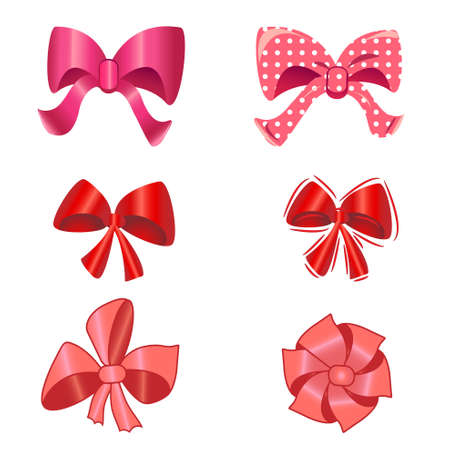 holiday bow set for design.vector illustration.isolated object