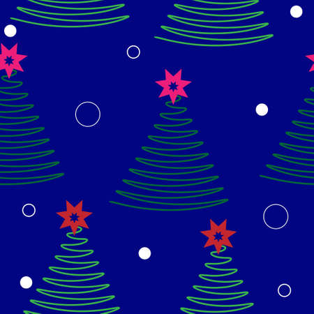 christmas tree vector background.seamless texture.new year decorations Vector