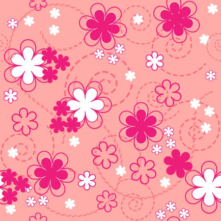 floral seamless pattern.vector texture and background.spring season Vector