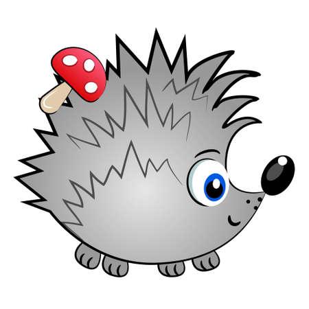 egel: egel geïsoleerde character.cute dier vector illustratie Stock Illustratie