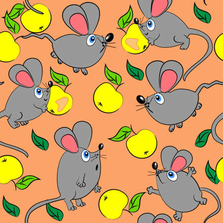 suprise: cute mouse seamless pattern.vector texture and background Illustration