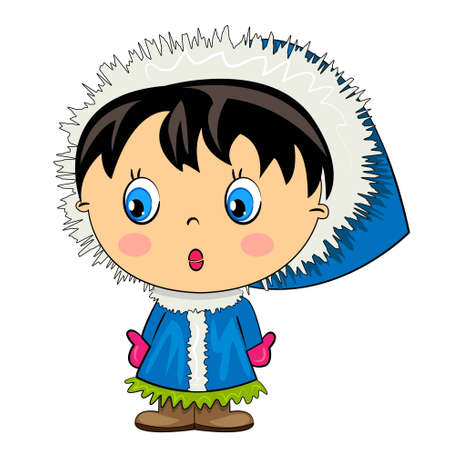 cartoon kid baby girl isolated character