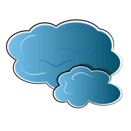 구름 아이콘. 자연 상징