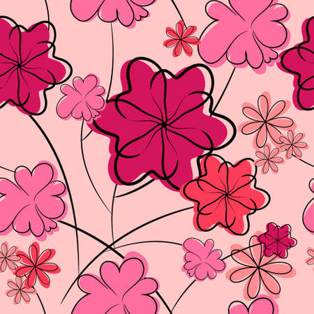 floral background. seamless flower texture  Vector