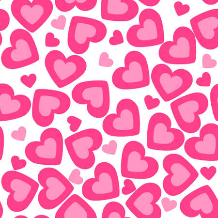heart background. valentine seamless texture Vector