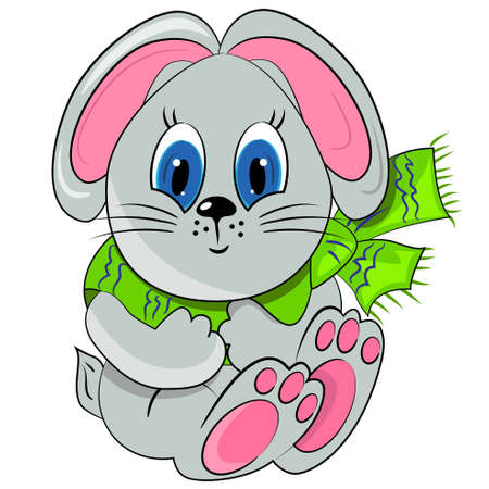 cartoon bunny. animal zoo illustration Vector