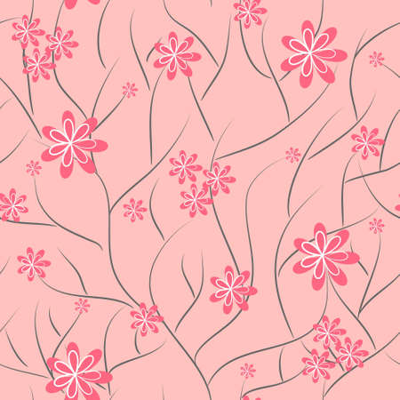 fabric swatch: floral background. flower seamless texture Illustration