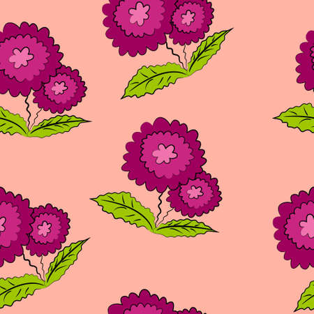 floral wallpaper and background  flower texture Vector