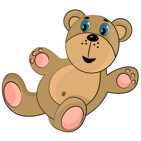 teddy bear toy. cartoon bear illustration Vector