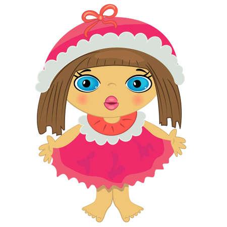 baby girl icon. cartoon little child illustration Vector