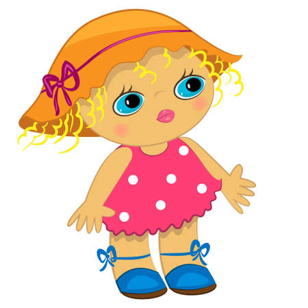 hair clip: baby girl icon. cartoon child illustration Illustration