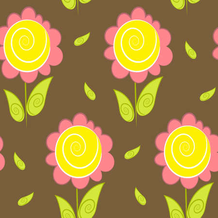 floral background and wallpaper. flower texture Vector
