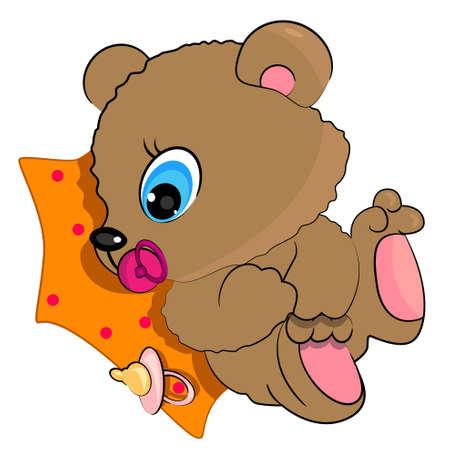 el oso de peluche ilustración bebé. icono de animales salvajes