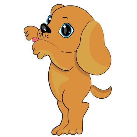 giocando icona cucciolo. cane lecca Vettoriali