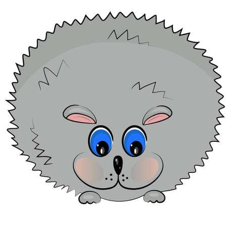 baby animal icon. little pet hedgehog illustration  Vector