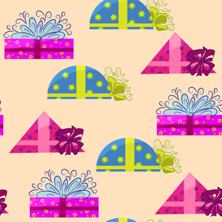 present wrapping and holiday background. gift icon texture  Illustration