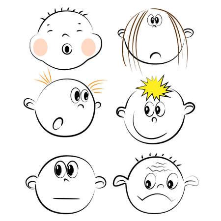 children face icons. friendship illustration  Vector