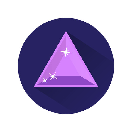 Diamond vector icons set on white background Vector