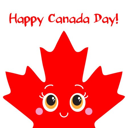 Happy Canada Day card  Vector  Ready design
