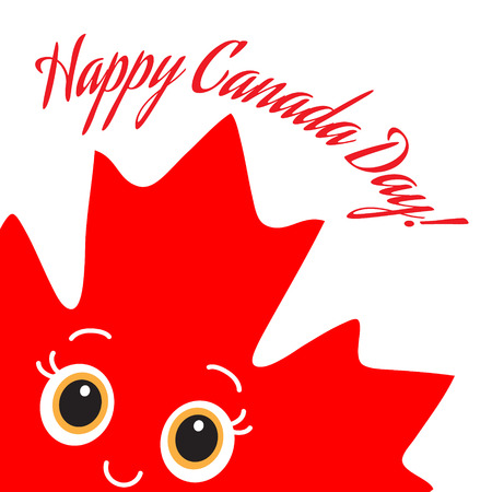 Happy Canada Day card  Vector  Ready design