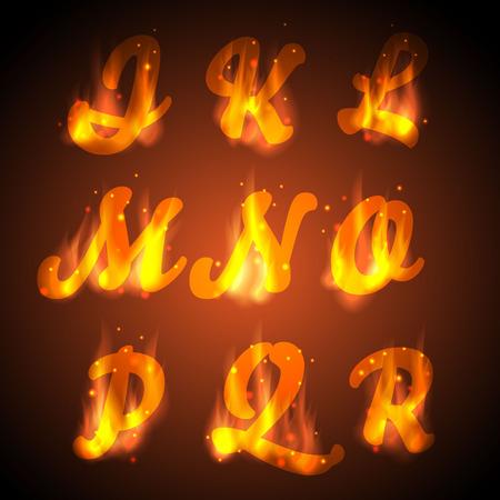 Fuoco alfabeto vettore Lettere per la progettazione Archivio Fotografico - 29829015