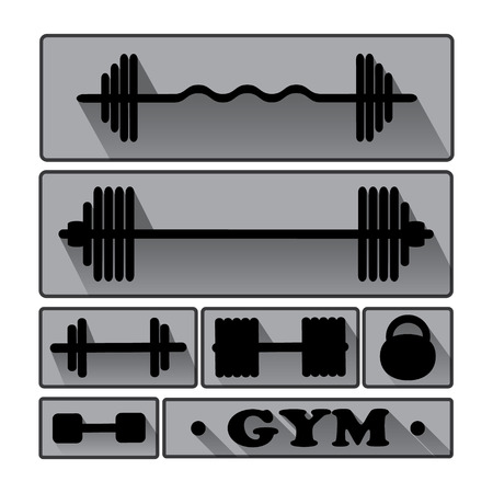 Gym Fitness icons vector  Icons for design  Vector