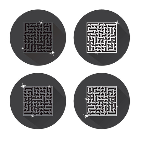 Abstract maze symbols on a white background Vector