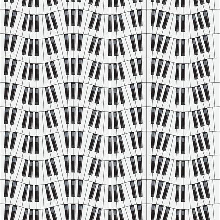 forte: Piano keys  Seamless vector illustration  Background for design